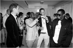Princes William & Harry Get Down With Diddy & Kanye