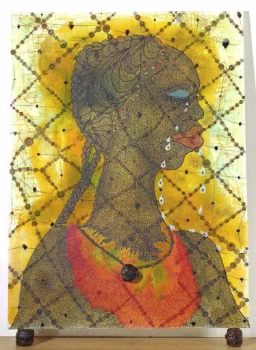 Chris Ofili, No Woman, No Cry