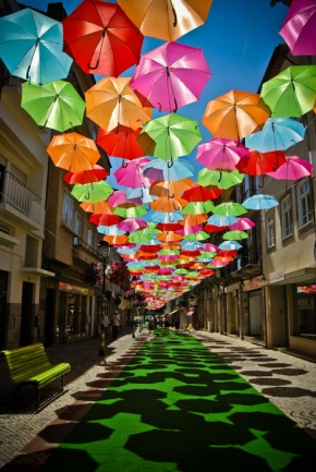 Umbrella Sky ~ Agueda, Portugal