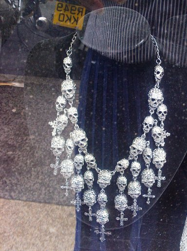 Butler & Wilson skull necklace