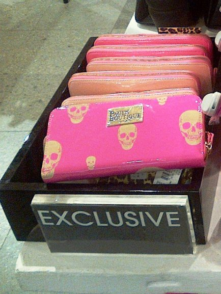Paul's Boutique pink skull purse