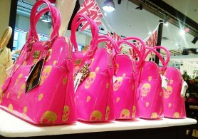 Selfridges, Paul's Boutique skull pink bag