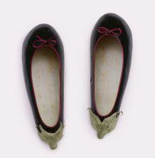 aubergine ballet pumps
