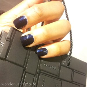 Chanel Blue Satin nail polish