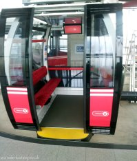 Each gondola takes 8 - 10 passengers. 6 would be cosy i imagine.