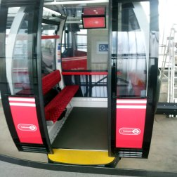 Each gondola takes 8 - 10 passengers. 6 would be cosy i imagine.