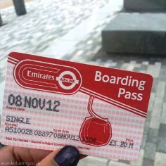 London cable car ticket