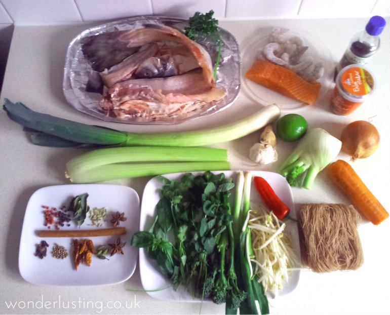 fish pho ingredients