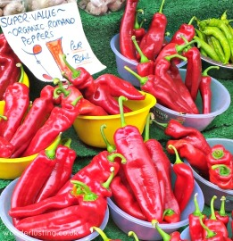 Lewisham market - organic peppers