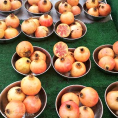 Lewisham market - pomegranates
