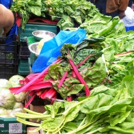 Lewisham market - red chard