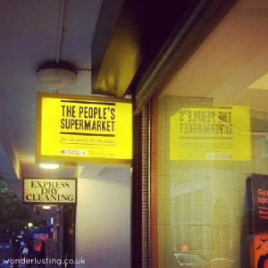 The People's Supermarket shop sign