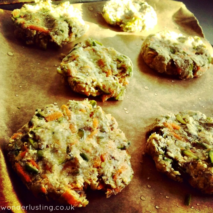 Carrot pistachio coconut oat spelt cookies on tray