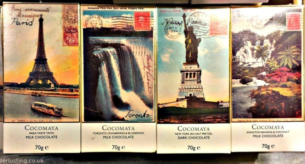 Cocomaya around the world chocolate - Paris, Toronto, New York, Kingston.