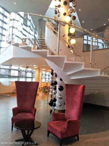 Hotel La Tour chairs in lobby