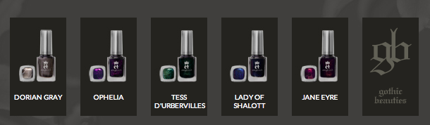 A England Gothic Beauties nail polish collection