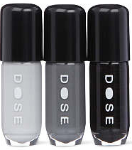 DOSE Black Beauties nail polish set