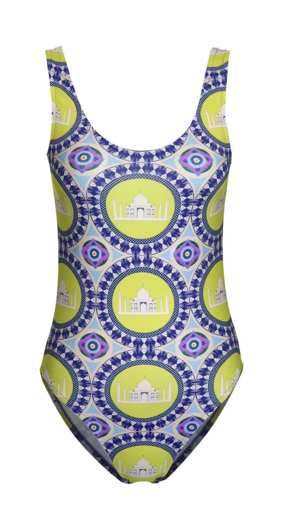 Charlotte Taylor Swimming-Costume-Taj Mahal -FRONT