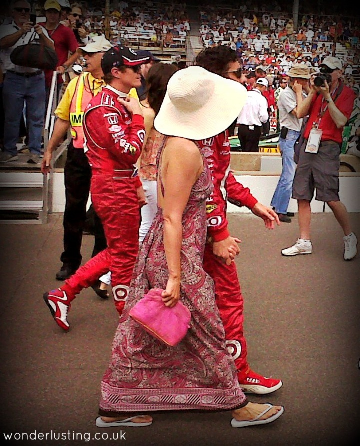 Ashley Judd with her Indy 500 winning husband, Dario Franchitti - you'll have to take my word!