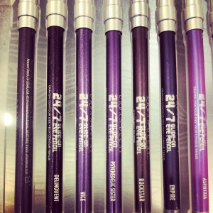 Urban Decay 24/7 purple pencils
