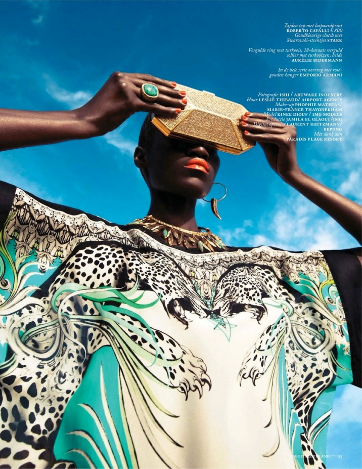 Vogue Netherlands Kinee Diouf in Cavalli p95