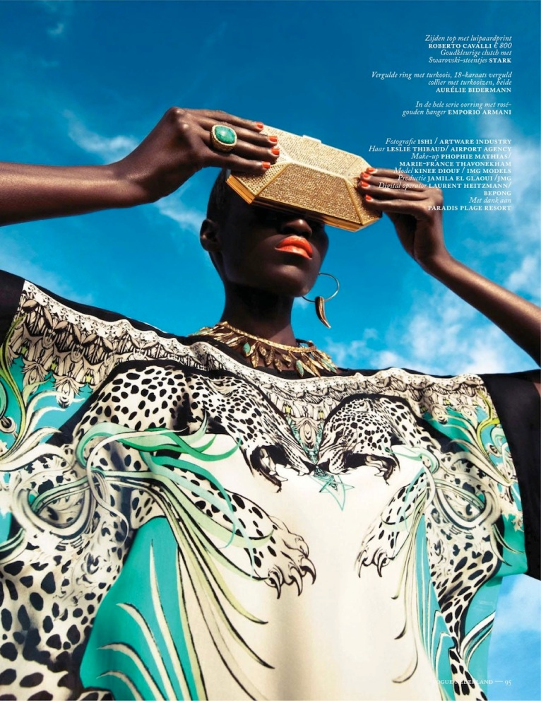 Vogue Netherlands Kinee Diouf in Cavalli p95