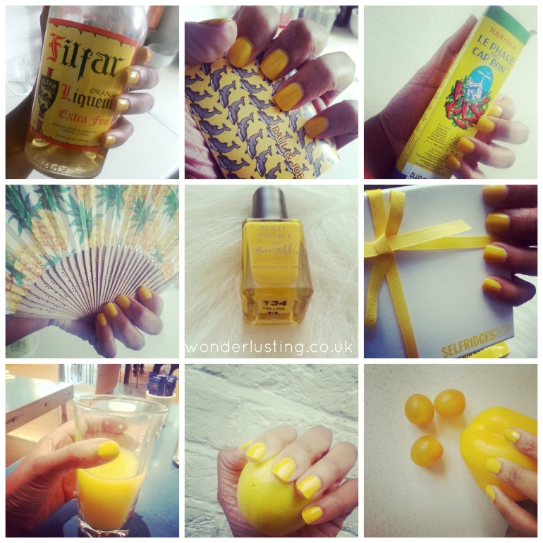 Barry M Yellow swatch collage
