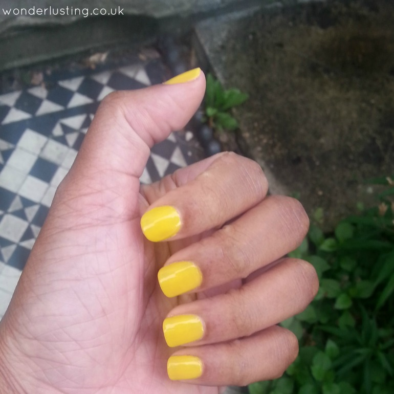 Barry M nail paint: yellow 134