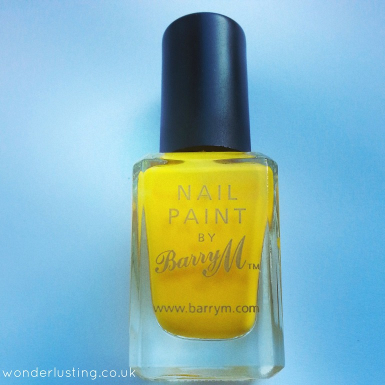 Barry M yellow nail paint
