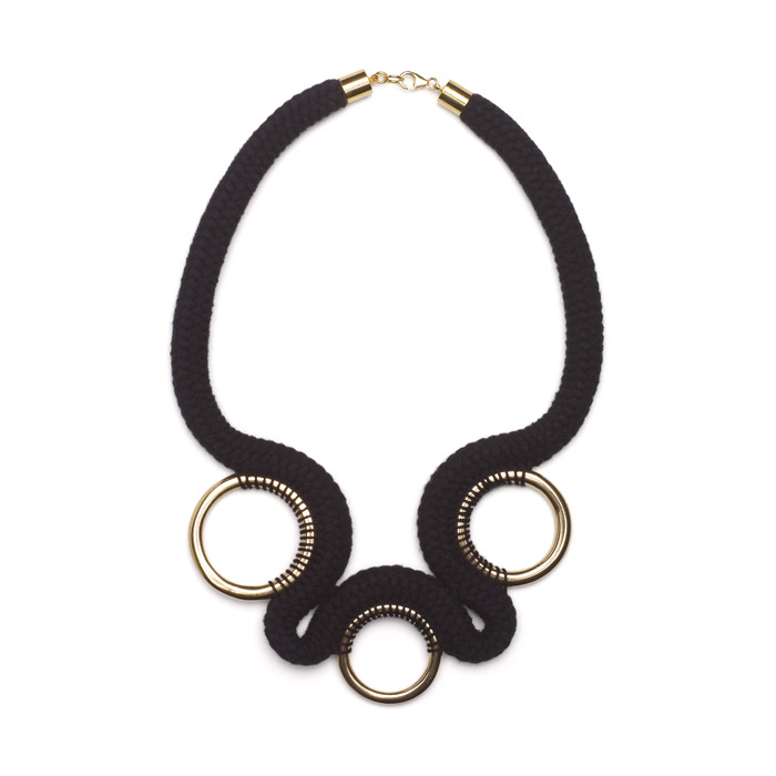 Eleanor Bolton stiched ring necklace