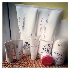 Skincare Empties from Elemental Herbology, Eve Lom, Korres and Pai