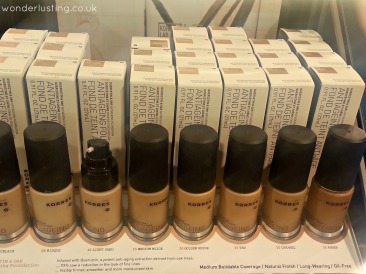 Korres foundations in a range of colours not available anywhere else but Sephora
