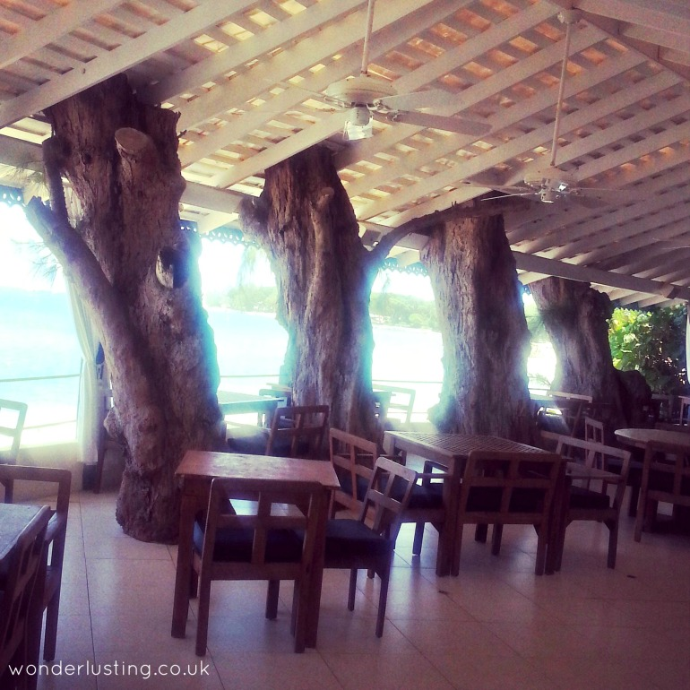 The Tides Barbados interior: I love a bit of indoor tree action