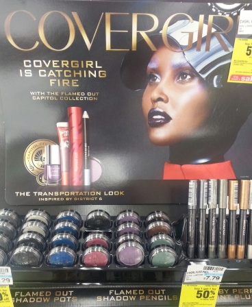 CoverGirl Hunger Games Catching Fire display