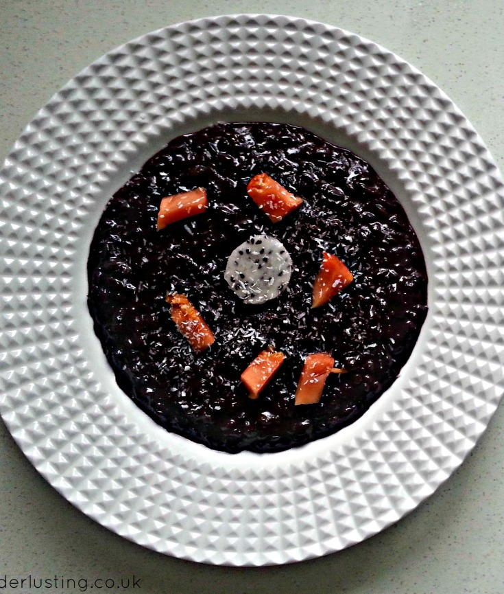 Coconut Black Rice with Dragon fruit & Pawpaw