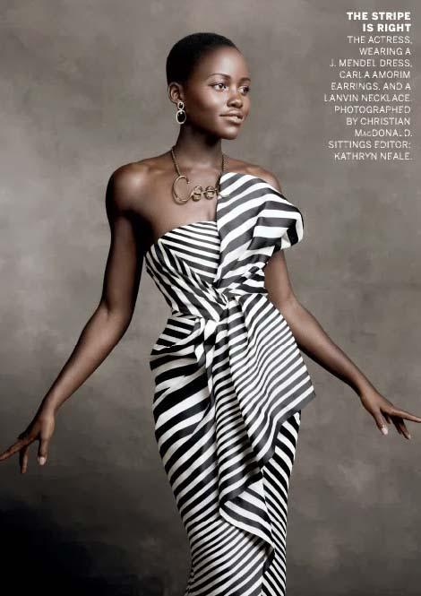 Lupita Nyong'o in January 2014 American Vogue issue, photographed by Christian McDonaldLupita Nyong'o in January 2014 American Vogue issue, photographed by Christian McDonald