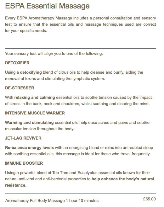 Kukana Spa ESPA Essential Massage
