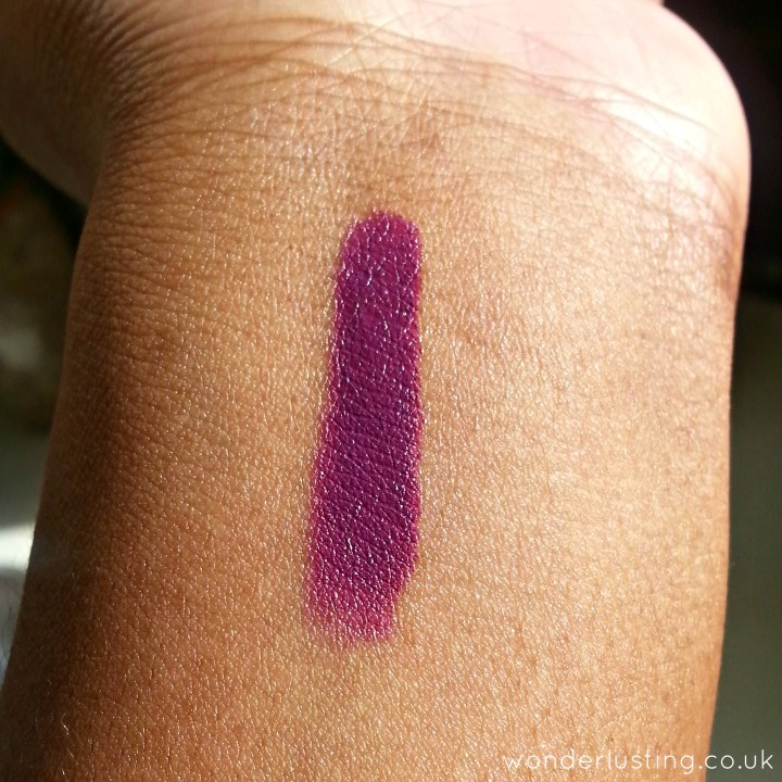 Revlon Colorburst Matte Balm, Shameless swatch on dark skin