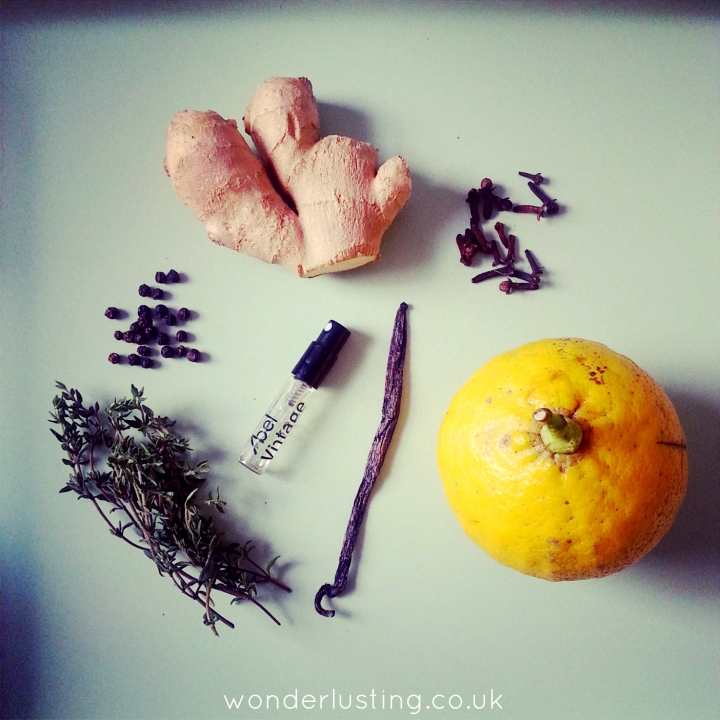 Vintage '13 ingredients
