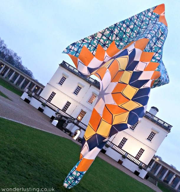 Wind Sculpture by Yinka Shonibare MBE, on lawn of The Queen's House
