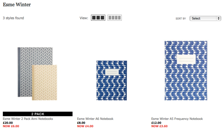 Esme Winter notebooks available at ASOS