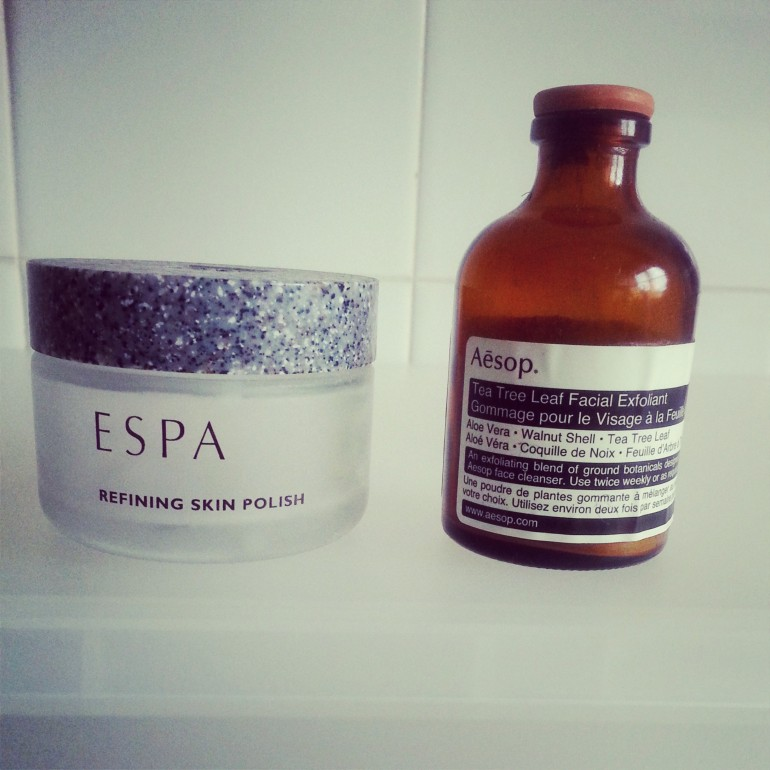 ESPA Refining Skin Polish replaced with Aesop Tea Tree Leaf Facial Exfoliant