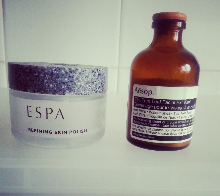 ESPA Refining Skin Polish replaced with Aesop Tea Tree Leaf Facial Exfoliant