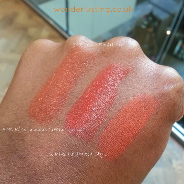 Kiko orange lipsticks