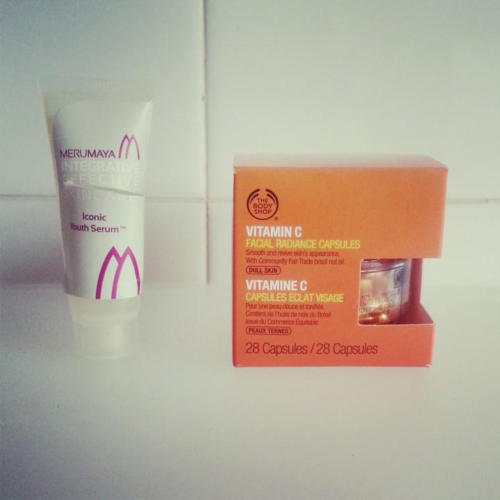 Merumaya Iconic Youth Serum replaced with The Body Shop Vitamin C capsules