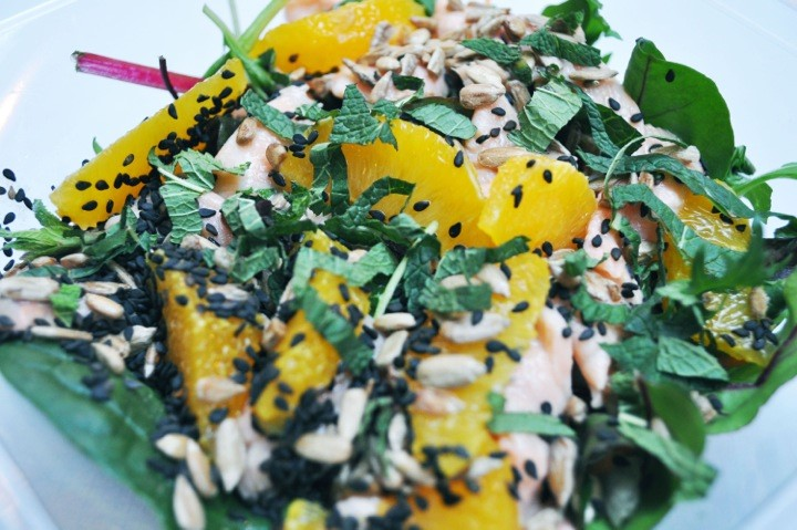 Chop'd sesame, salmon & orange salad