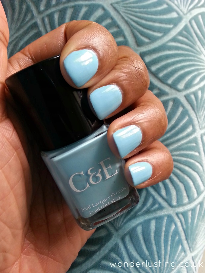 Crabtree & Evelyn Sky nail lacquer swatch