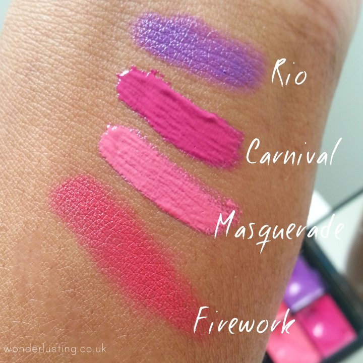 Sleek Mardi Gras Lip4 palette swatch