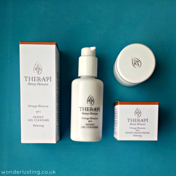 Therapi Orange Blossom honey gel cleanser and moisturiser