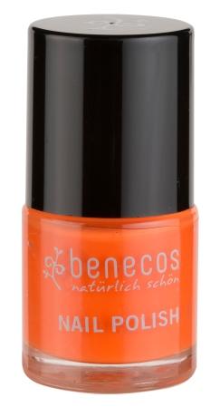 Benecos nail polish Mighty Orange